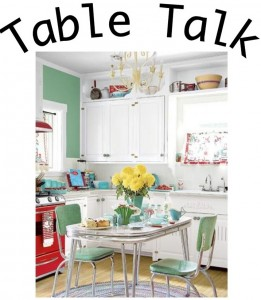 Table in a cute kitchen