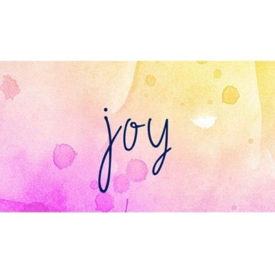 Contemplating Joy – today, before the holidays